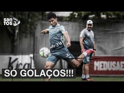 GOLAÇOS NO TREINO DO #SANTOS!