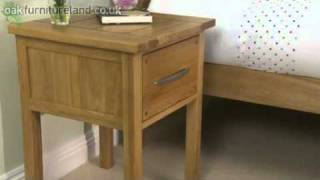 Newark Solid Oak Bedside Cabinet From Oak Furniture Land