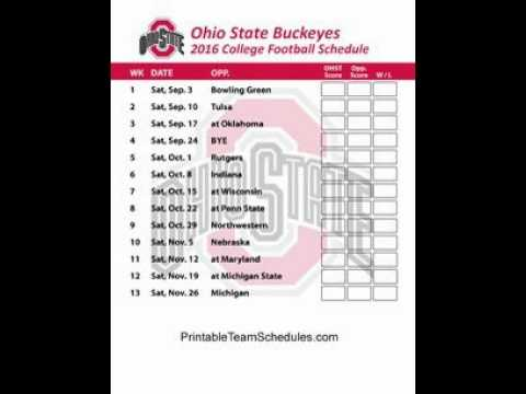photo regarding Ohio State Football Schedule Printable titled 2016 Ohio Country Buckeyes Soccer Agenda