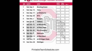 2016 Ohio State Buckeyes Football Schedule