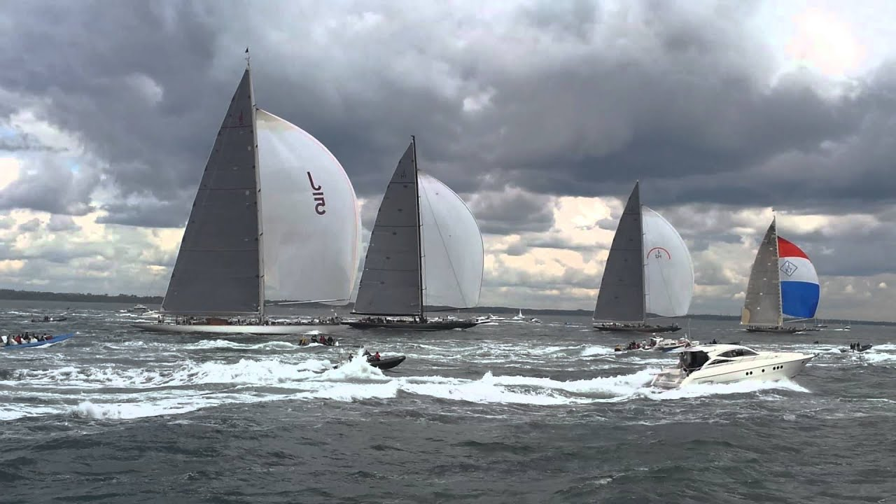 J Class Yachts On The Solent Under Spinnaker YouTube