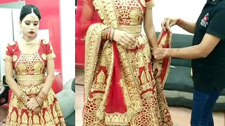 Latest Bridal double Dupatta draping 2019 //step by step