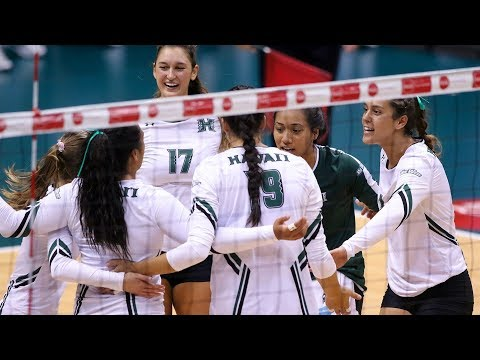Rainbow Wahine Volleyball 2017 - Hawaii Vs Northern Arizona