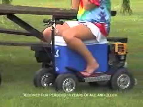 Cooler esky scooter youtube for Motor cooler on wheels