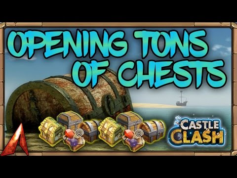 Castle Clash Opening A TON Of Chests!