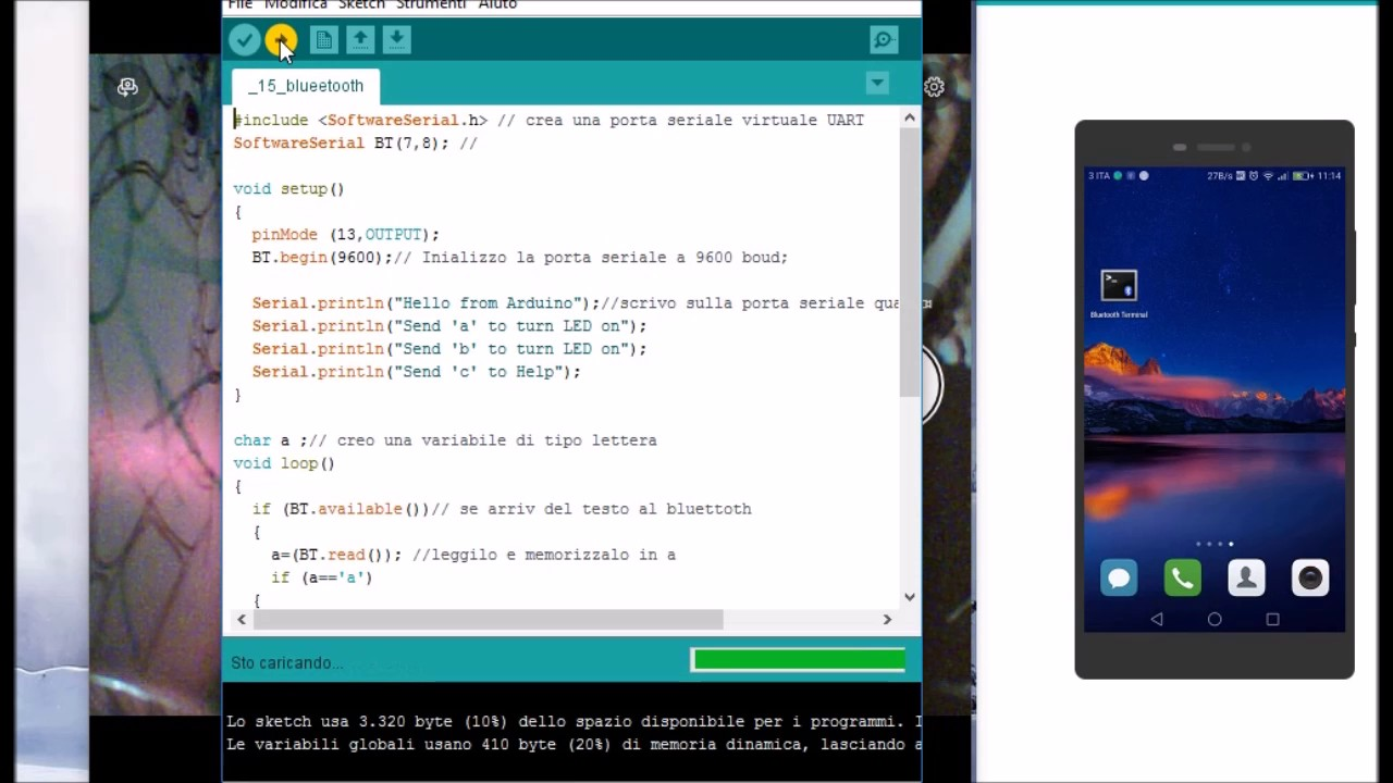 Arduino control with HC-06 bluetooth with bluetooth terminal on  smartphones, Arduino 10