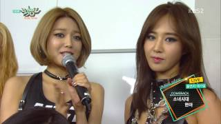 (150821) HyunA & SNSD - Waiting Room @ KBS Music Bank