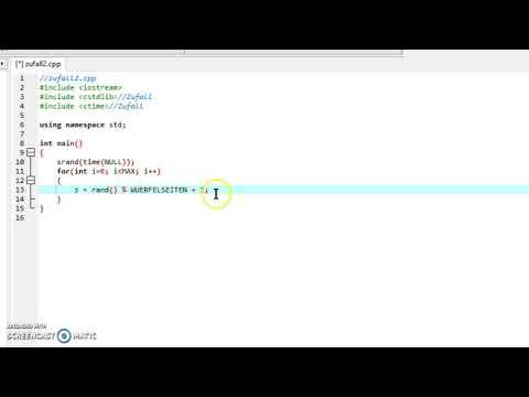Programmieren in C++: Zufallszahlen und for
