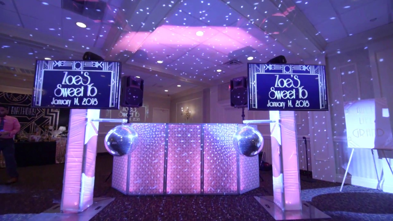 Sweet Sixteen Party Ideas 2020 Zoe's Great Gatsby Theme Sweet 16 From The Westwood Garwood NJ