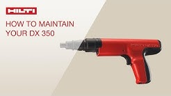HOW TO clean and maintain your Hilti powder-actuated tool DX 350