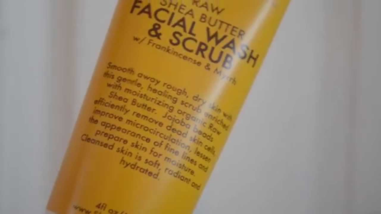 Shea moisture face scrub