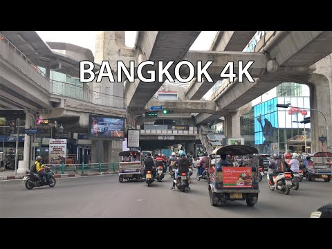 Bangkok 4K - Driving Downtown - World's #1 Visited City