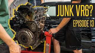 Sad News For Our Junk Yard Motor // 400HP VR6 Turbo Jetta MK2 Build Continues