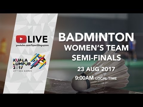 Badminton 🏸 Womens Team Semi-finals Malaysia 🇲🇾 vs 🇮🇩 Indonesia | 29th SEA Games 2017
