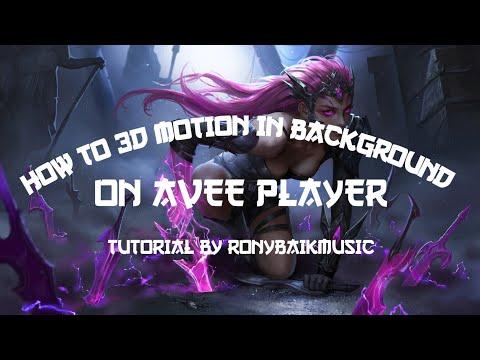 [TUTORIAL] Cara Membuat Efek Motion 3D Background By Ronybaik Music | Avee Player Template