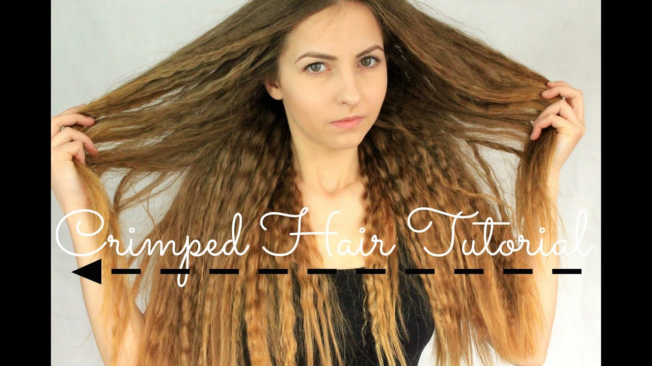 Crimped Hair Tutorial NO CURLERS Big Hair Effect Beyonce