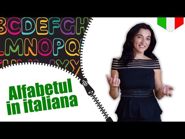 Alfabetul in italiana (spelling) | VOCABULAR | CC Sub RO