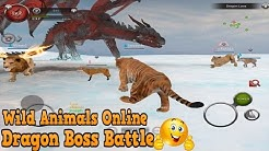 🐅🐲👍Wild Animals Online-Dragon Boss Battle-Дикие животные онлайн -Android Only