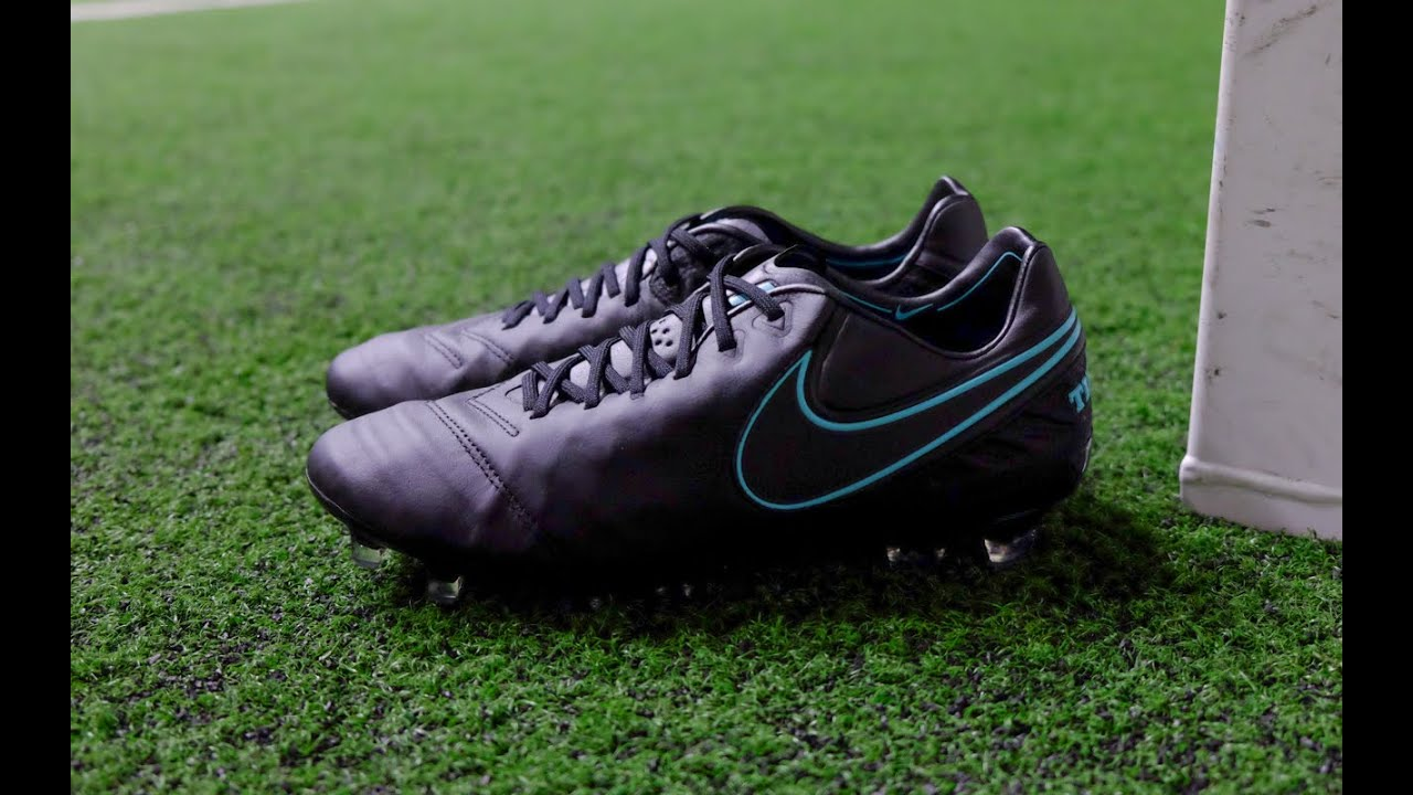 33e49435d8c7 Review   On-Feet  Nike Tiempo Legend VI FG - Black Black Turq - YouTube