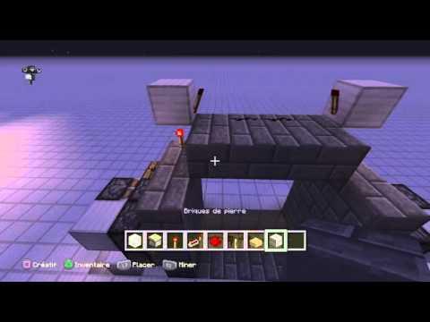 Minecraft tuto redstone porte 4x4 youtube for Porte and minecraft