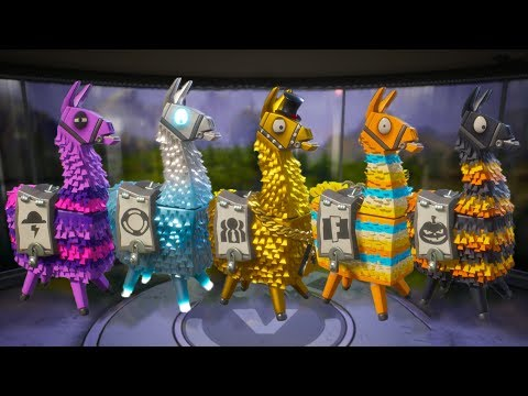 Fortnite: Opening A Whole Bunch Of Loot Llamas