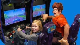 Assistant Plays in The Arcade with Wreck it Ralph with PJ Masks and Paw Patrol Video