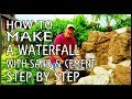 How to build a pond waterfall. Just Sand & Cement. PART ONE. with Geoff Carter