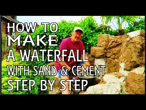 how to make a fish pond with cement