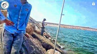 مغامرة فمون جديد لصيد سمك بالداربيضاء وجدنا شبكة منعتنا من الصيد😡😡