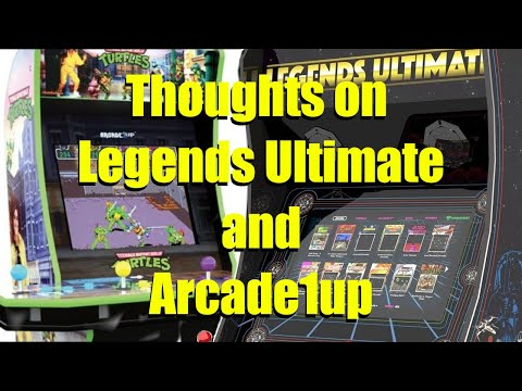 Our experiences with the AtGames Legends Ultimate and Arcade1up home arcades. from Bog Panda