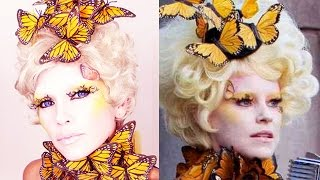 Effie Trinket Costume Makeup Thumbnail
