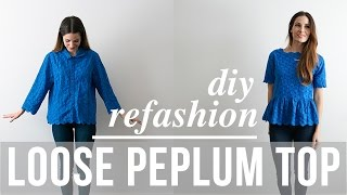 DIY loose peplum lace top refashion