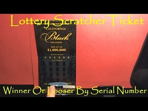 How To Tell If A Lottery Scratcher Ticket Is A Winner Or Looser By