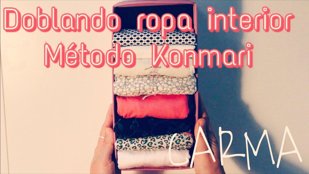 Doblando ropa interior con el m todo konmari 1 how to - Marie kondo doblar ropa ...