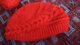 Китайская шапка спицами. Как    я ее вязала.