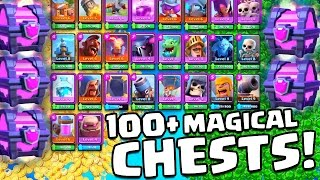"""63,000 GEMS = 100+ MAGICAL CHESTS!"" INSANE $450 Clash Royale Opening!"
