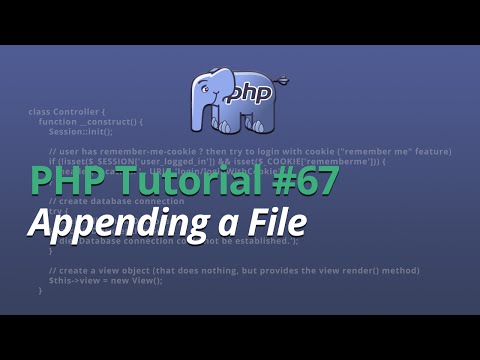 PHP Tutorial - #67 - Appending a File
