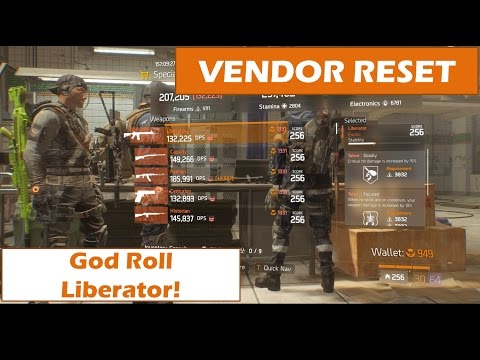 [Gaming] The Division v1.6 - Vendor Reset | God Liberator [06.05.2017| LONG]
