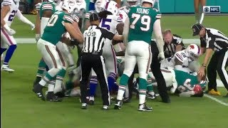 Crazy Fights and Ejections During Bills Dolphins Game (HD)