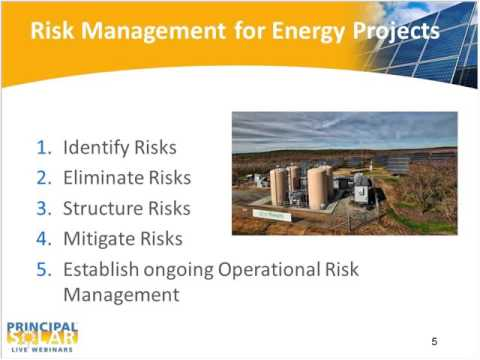 Managing Risks in Large Solar Energy Projects