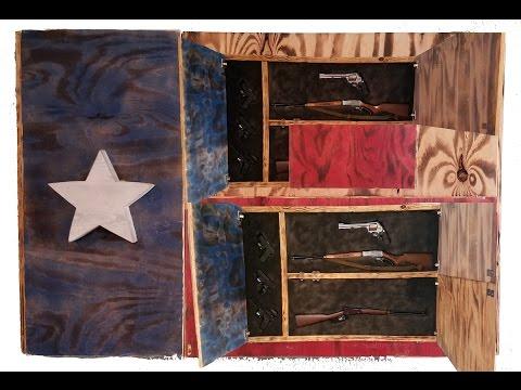 DIY Gun Cabinet Project Texas Flag