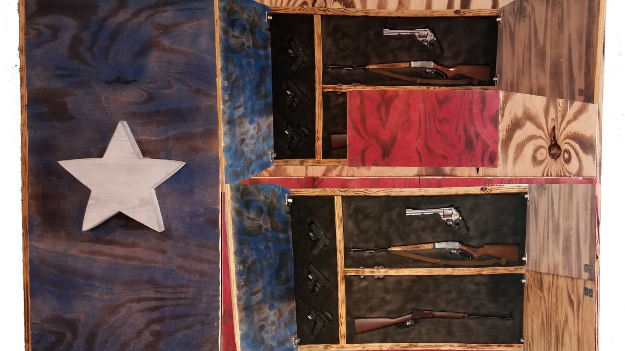 DIY Gun Cabinet Project Texas Flag & DIY Gun Cabinet Project Texas Flag - YouTube