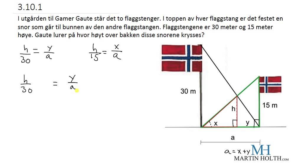 Matematikk 1P- Geometri - Prøveoppgave Vanskelig - 3101