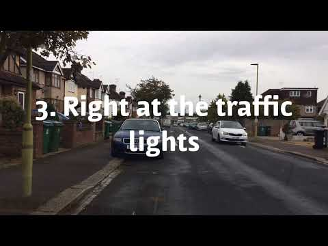 Watford driving test route at 8.10am