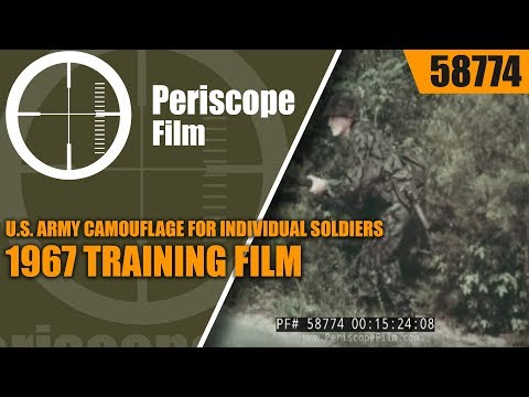 U.S. ARMY CAMOUFLAGE FOR INDIVIDUAL SOLDIERS  1967 TRAINING FILM   58774