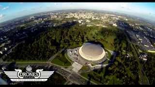 2014-09-27 Kraków Arena - CH Plaza - Elektrociepłownia Kraków - Grzegórzki - Podgórze Z LOTU PTAKA