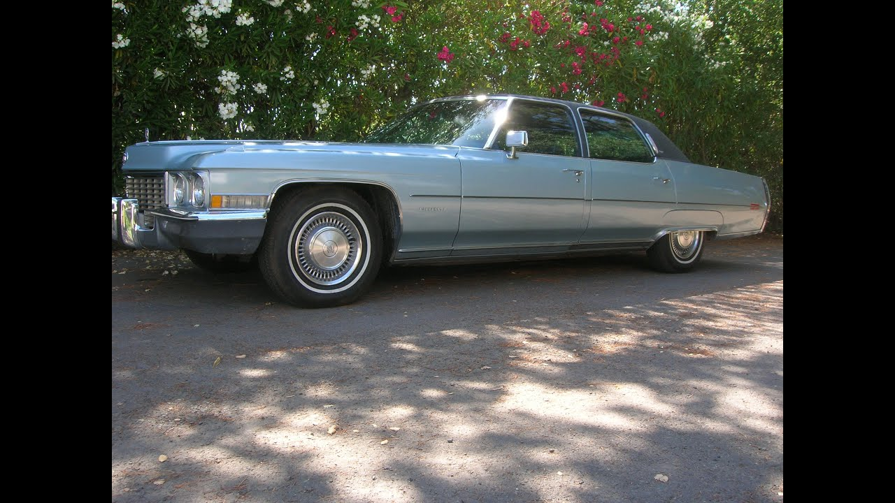 1972 Cadillac Fleetwood Walk around and road test - YouTube