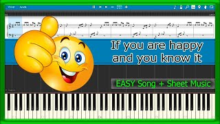 If you are happy and you know it [Fingering Exercise] (Piano Tutorial) | PianoPlaying