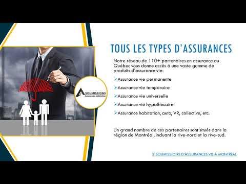 Comparez 3 Soumissions d'assurance vie à Montréal
