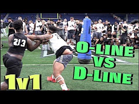🔥🔥 SAVAGE MODE | OLvsDL 1v1s | All-American Bowl Combine (San Antonio, TX)